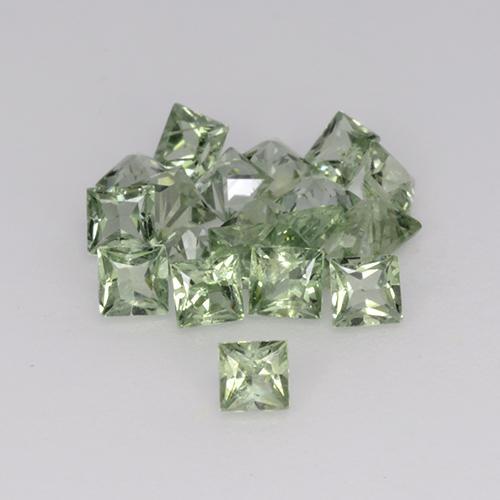 Green Sapphire Gem - 0.1ct Princess-Cut (ID: 354118)