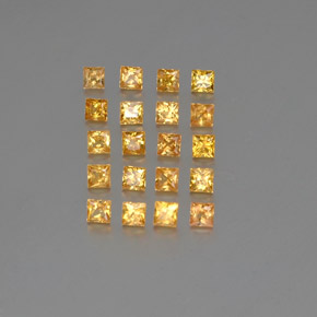 Yellow Golden Sapphire Gem - 0.1ct Princess-Cut (ID: 354153)