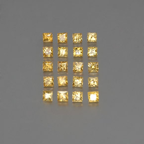Golden Sapphire Gem - 0.1ct Princess-Cut (ID: 354177)