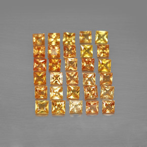 Yellow Golden Sapphire Gem - 0.1ct Princess-Cut (ID: 354221)