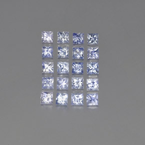 Light Blue Sapphire Gem - 0.2ct Princess-Cut (ID: 354241)
