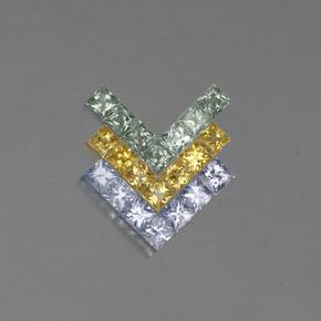 Multicolor Sapphire Gem - 0.1ct Princess-Cut (ID: 354252)