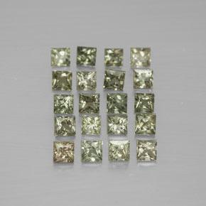 Medium Green Zafiro Gema - 0.1ct Corte Princesa (ID: 354283)