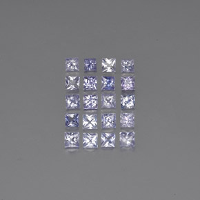 Medium-Light Violet Zafiro Gema - 0.1ct Corte Princesa (ID: 354402)