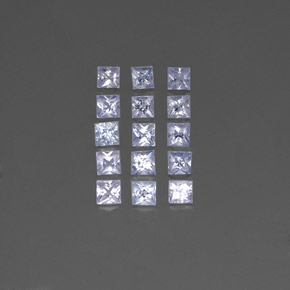 Light Blue Sapphire Gem - 0.2ct Princess-Cut (ID: 354428)