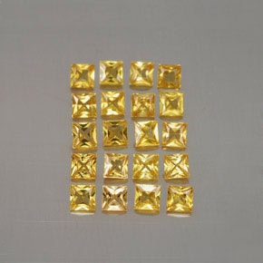 Yellow Golden Sapphire Gem - 0.1ct Princess-Cut (ID: 354462)