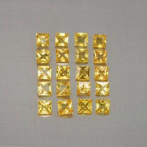 Yellow Golden Sapphire Gem - 0.1ct Princess-Cut (ID: 354464)