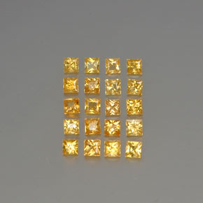 Yellow Golden Sapphire Gem - 0.1ct Princess-Cut (ID: 354505)