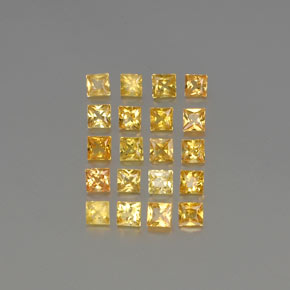 Yellow Golden Sapphire Gem - 0.1ct Princess-Cut (ID: 354536)