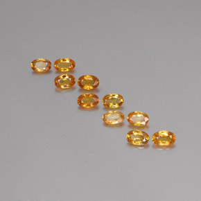 Deep Orange-Gold Zafiro Gema - 0.3ct Forma ovalada (ID: 355221)