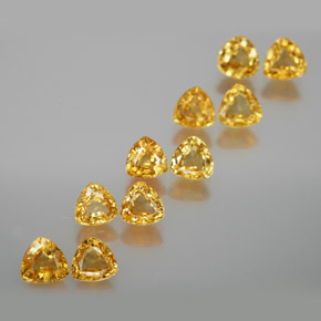 Yellow Golden Sapphire Gem - 0.4ct Trillion Facet (ID: 356665)