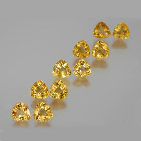 Yellow Golden Sapphire Gem - 0.5ct Trillion Facet (ID: 356671)