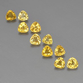Yellow Golden Sapphire Gem - 0.5ct Trillion Facet (ID: 356677)