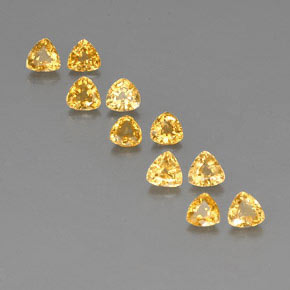 Yellow Golden Sapphire Gem - 0.4ct Trillion Facet (ID: 356681)