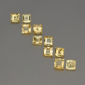 Yellow Golden Sapphire Gem - 0.2ct Square Facet (ID: 357050)