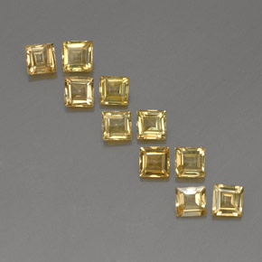 Yellow Golden Sapphire Gem - 0.3ct Square Facet (ID: 357051)