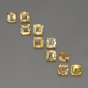 Yellow Golden Sapphire Gem - 0.3ct Square Facet (ID: 357052)