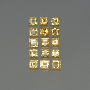 Yellow Golden Sapphire Gem - 0.2ct Square Facet (ID: 357054)