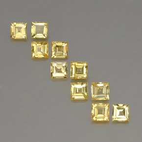 Golden Sapphire Gem - 0.4ct Square Facet (ID: 357061)