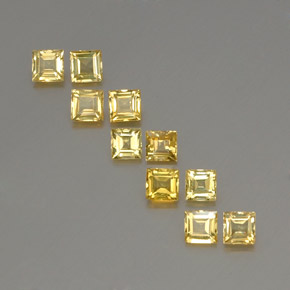 Yellow Golden Sapphire Gem - 0.3ct Square Facet (ID: 357062)