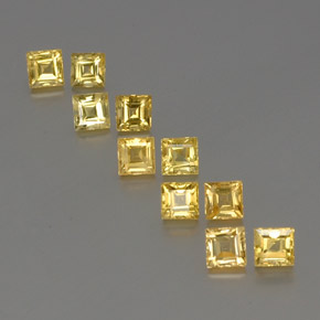 Yellow Golden Sapphire Gem - 0.5ct Square Facet (ID: 357066)