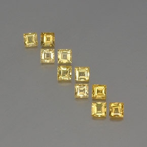 Yellow Golden Sapphire Gem - 0.3ct Square Facet (ID: 357068)