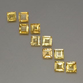 Yellow Golden Sapphire Gem - 0.5ct Square Facet (ID: 357070)