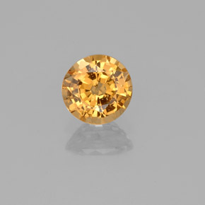 0.9ct Round Facet Medium Golden Sapphire Gem (ID: 357269)