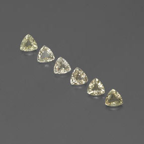 Light Yellow Sapphire Gem - 0.3ct Trillion Facet (ID: 357926)