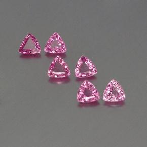 Royal Purple Pink Sapphire Gem - 0.3ct Trillion Facet (ID: 358495)