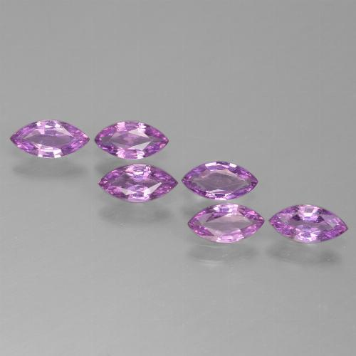 Pinkish Purple Sapphire Gem - 0.2ct Marquise Facet (ID: 358860)