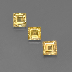 Yellow Golden Sapphire Gem - 0.6ct Square Facet (ID: 358951)