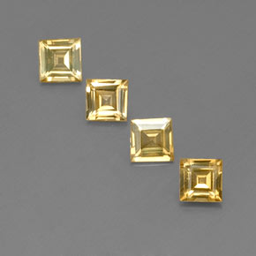 Yellow Golden Sapphire Gem - 0.4ct Square Facet (ID: 358953)