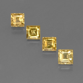 Yellow Golden Sapphire Gem - 0.6ct Square Facet (ID: 358956)