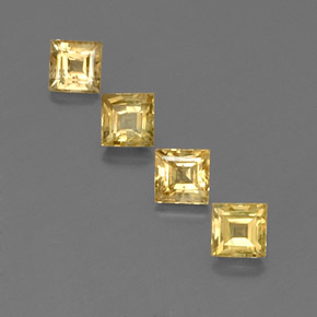 Yellow Golden Sapphire Gem - 0.6ct Square Facet (ID: 358959)