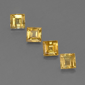 Yellow Golden Sapphire Gem - 0.6ct Square Facet (ID: 358961)