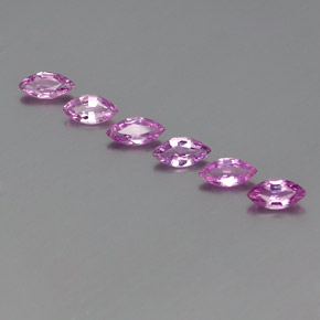 Violet Pink Sapphire Gem - 0.3ct Marquise Facet (ID: 359001)