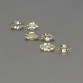 Yellowish Green Sapphire Gem - 0.3ct Marquise Facet (ID: 359040)