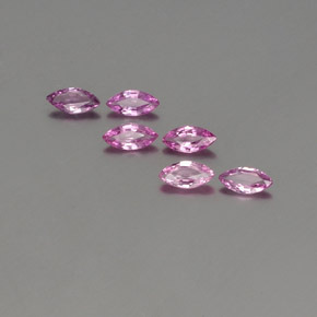 Violet Pink Sapphire Gem - 0.2ct Marquise Facet (ID: 359041)