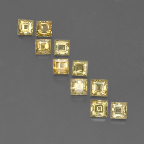Yellow Golden Sapphire Gem - 0.2ct Square Facet (ID: 359129)