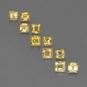 Yellow Golden Sapphire Gem - 0.3ct Square Facet (ID: 359131)