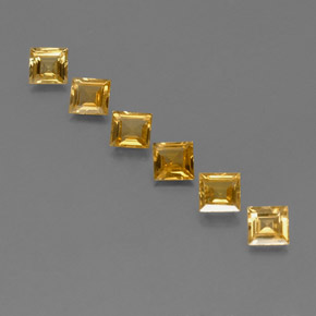 Yellow Golden Sapphire Gem - 0.5ct Square Facet (ID: 359136)
