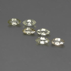 Yellowish Green Sapphire Gem - 0.3ct Marquise Facet (ID: 359269)