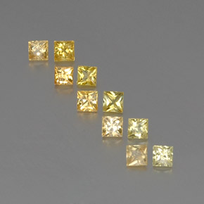 Yellow Golden Sapphire Gem - 0.2ct Princess-Cut (ID: 361322)