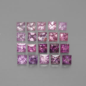 Multicolor Sapphire Gem - 0.1ct Princess-Cut (ID: 361479)