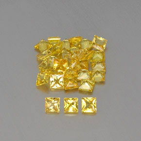 Yellow Golden Sapphire Gem - 0.1ct Princess-Cut (ID: 362178)