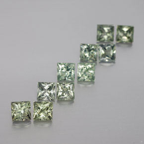 Light Forest Green Zaffiro Gem - 0.3ct Taglio Princess (ID: 362207)