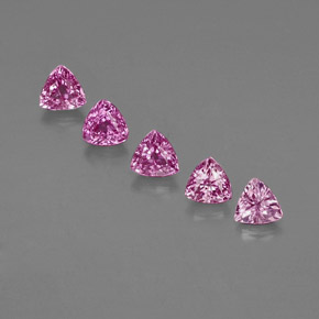 Purple Pink Sapphire Gem - 0.4ct Trillion Facet (ID: 363588)