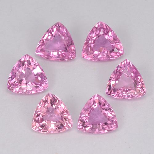 Purple Pink Sapphire Gem - 0.3ct Trillion Facet (ID: 363590)