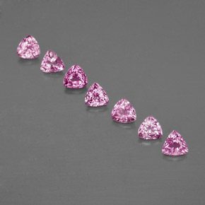 Purple Pink Sapphire Gem - 0.3ct Trillion Facet (ID: 363598)